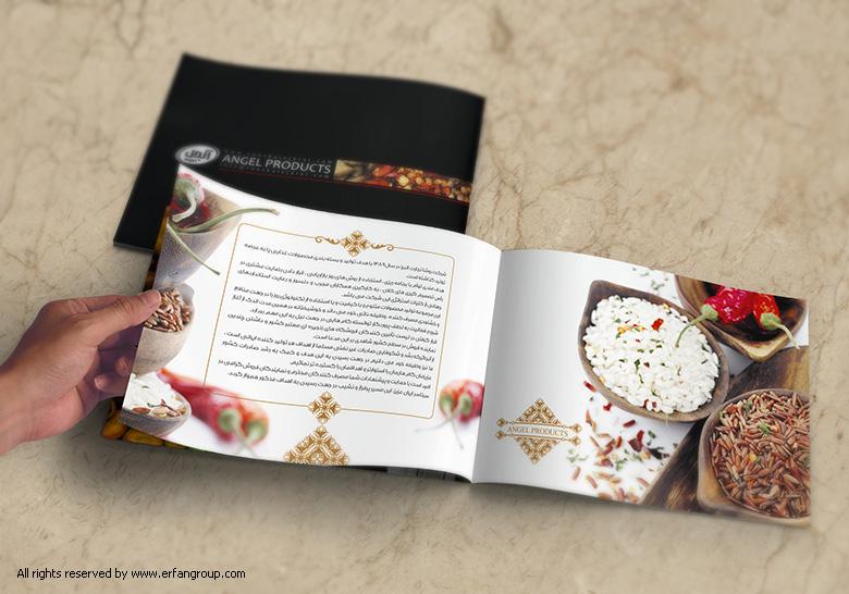 طراحی بروشور شرکت انجل