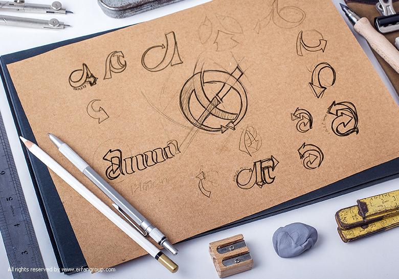 طرح اولیه لوگو آرمان تجارت