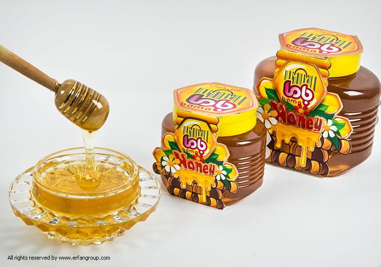 طراحی لیبل عسل باما