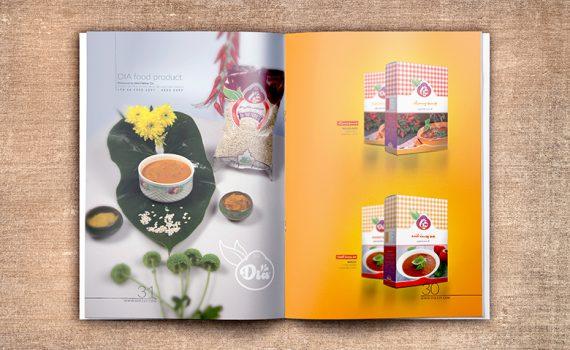 طراحی کاتالوگ بازاریابی محصولات دیا