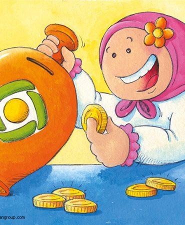 طراحی شخصیت تبلیغاتی بانک مهر اقتصاد
