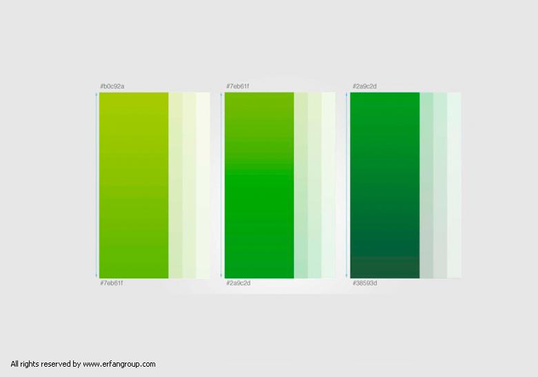 طیف رنگی بکار برده شده در لوگو