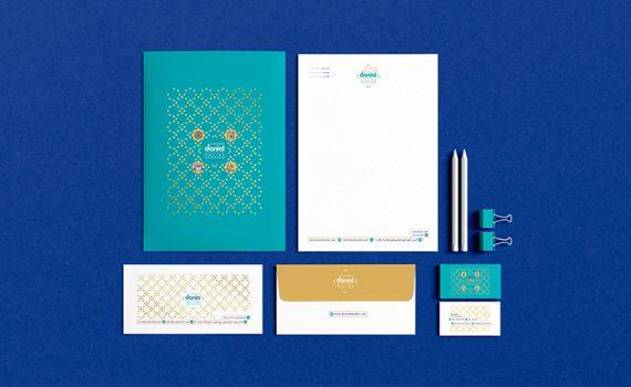 طراحی ست اوراق اداری فروشگاه آنلاین دانیال