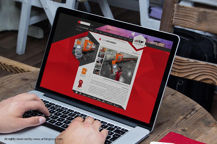 طراحی سایت شرکت عرفان