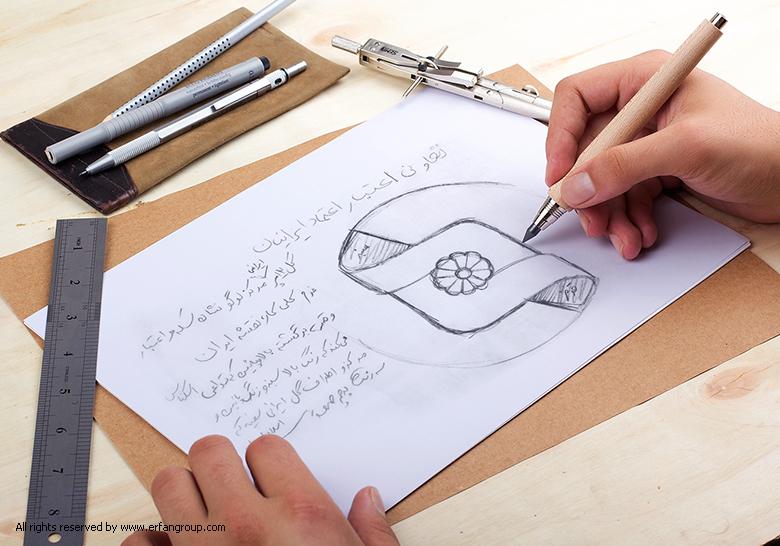 طرح اولیه لوگو اعتماد ایرانیان