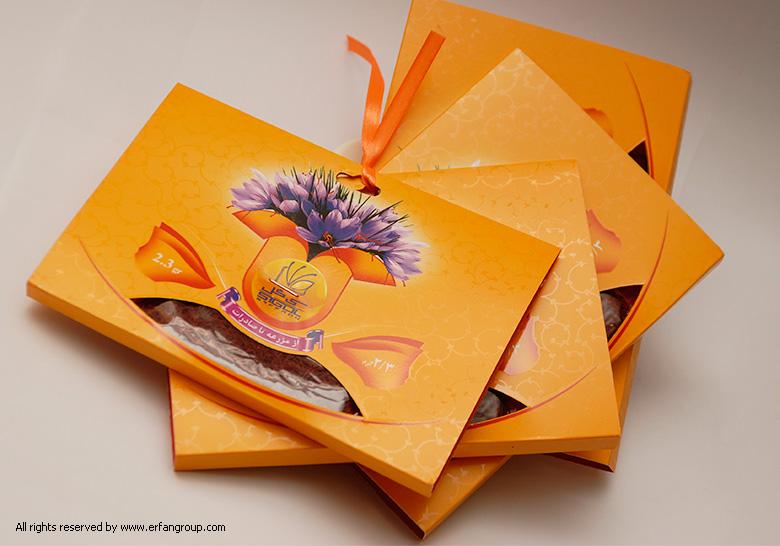 طراحی بسته بندی زعفران جهان زعفران
