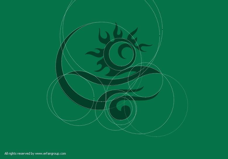 طرح اولیه لوگو میراث شرق