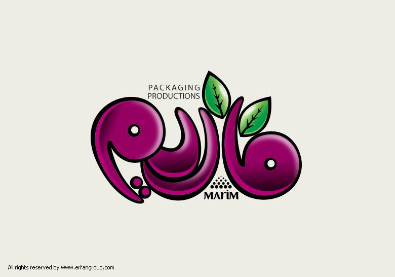 طراحی لوگو برند غذایی ماریم