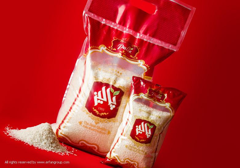 طراحی بسته بندی برنج پالیز