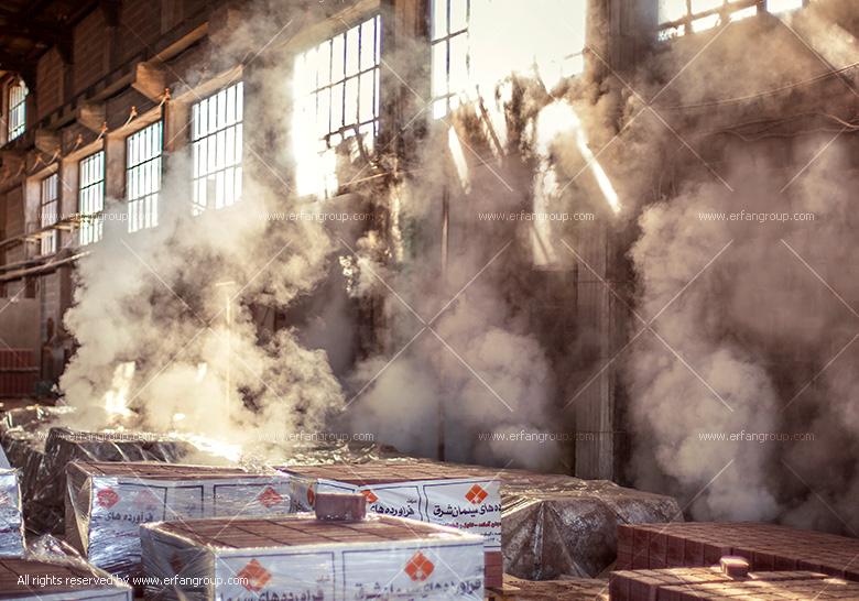 عکس صنعتی از کارخانه سیمان