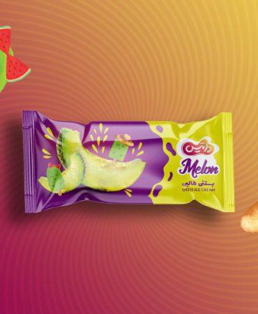 طراحی بسته بندی بستنی برند داتیس