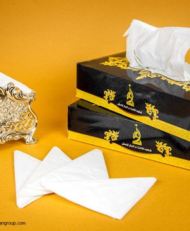 طراحی بسته بندی دستمال کاغذی هتل توس