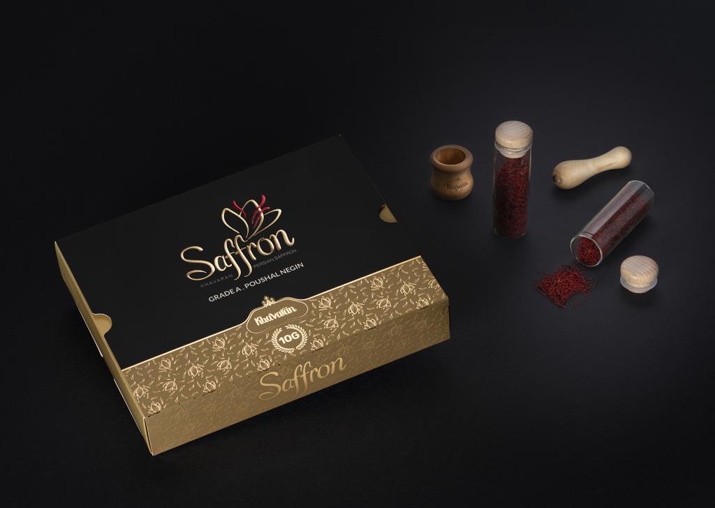 طراحی بسته بندی زعفران خاوران