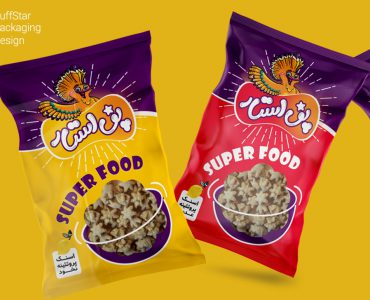 طراحی بسته بندی محصولات غذایی پف استار