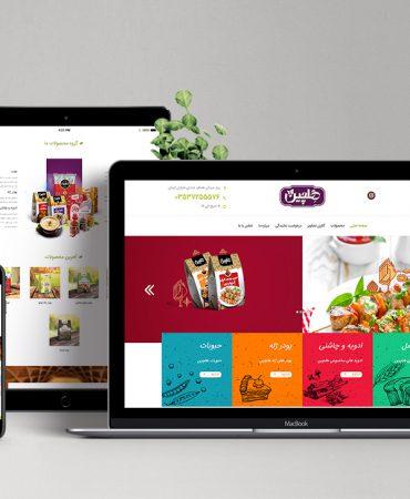 طراحی سایت صنایع غذایی هلچین