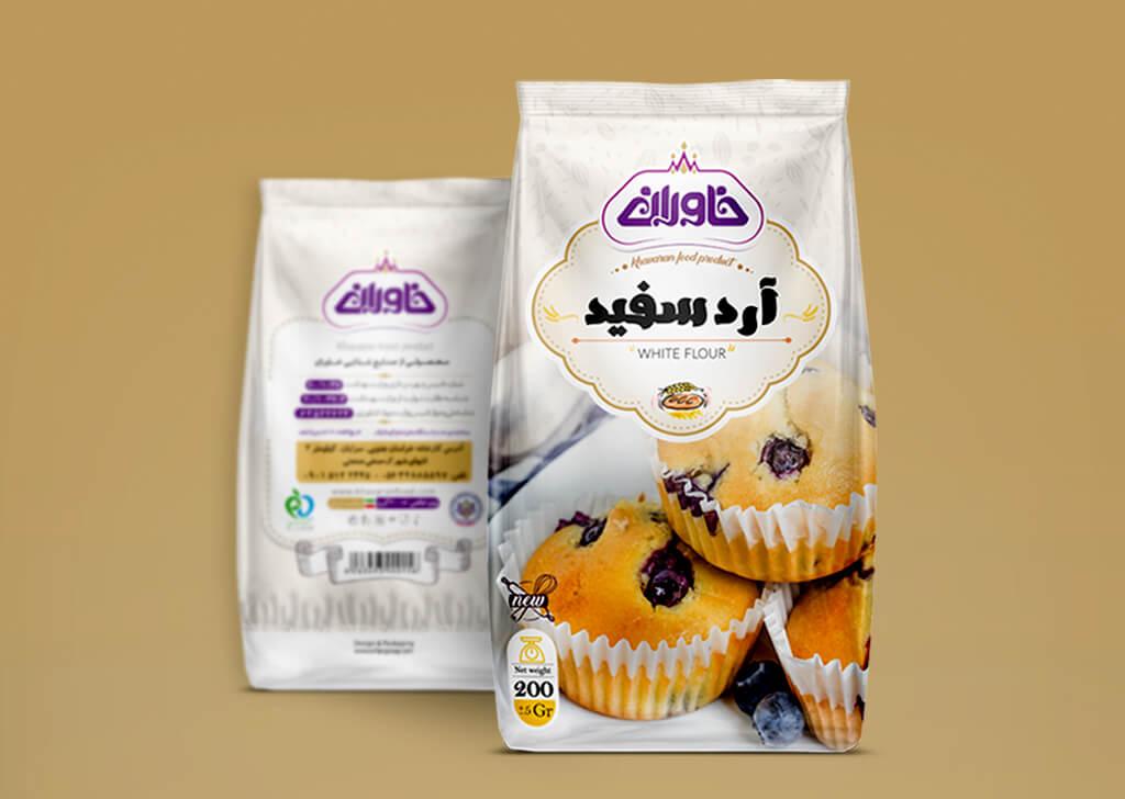 بسته بندی آرد سفید خاوران