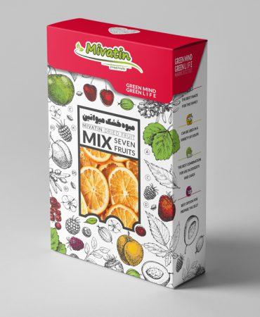 طراحی بسته بندی میوه خشک میواتین