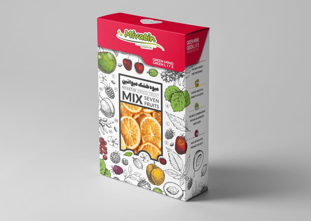 طراحی بسته بندی میوه خشک