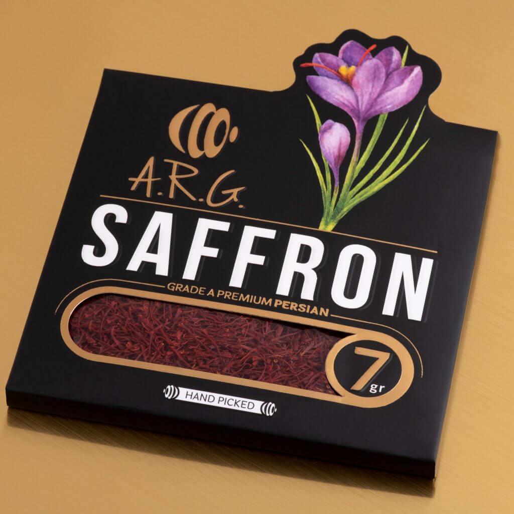 طراحی بسته بندی زعفران ARG