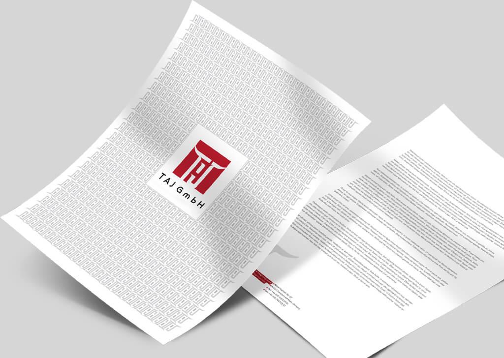 طراحی اوراق اداری گوشت حلال تاج