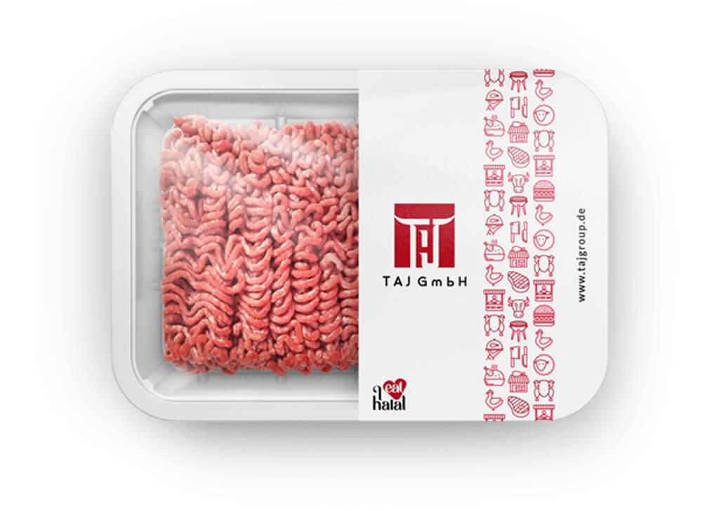 طراحی آرم گوشت حلال صادراتی تاج