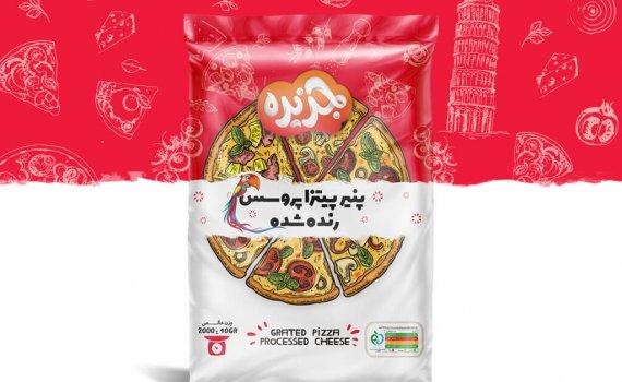 طراحی بسته بندی پنیر پیتزا جزیره