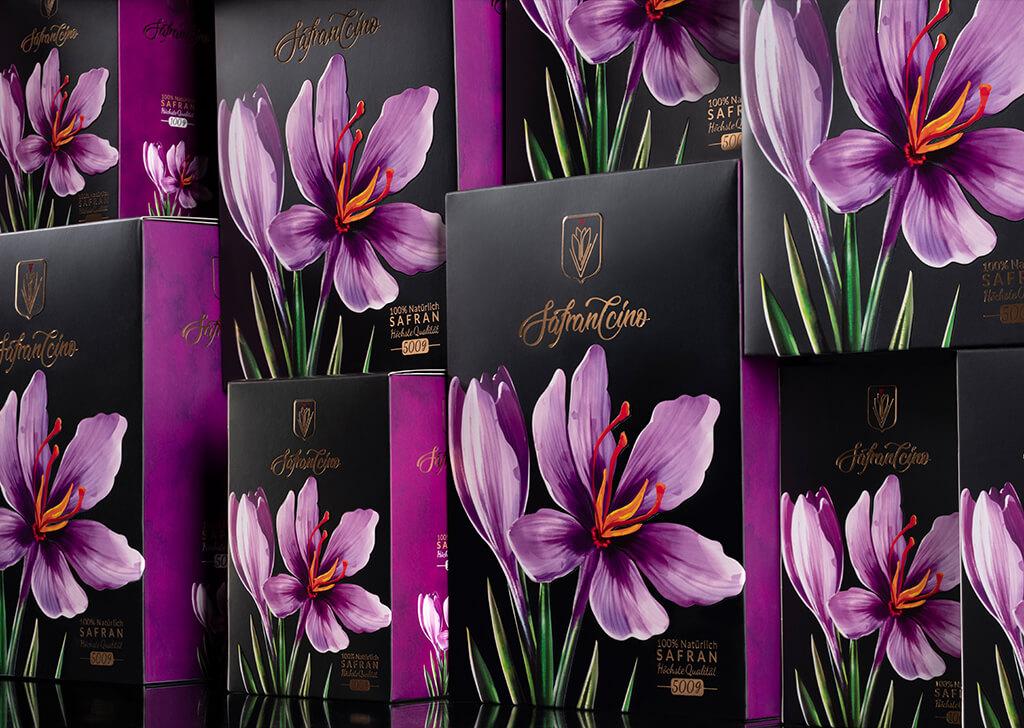 طراحی بسته بندی زعفران صادراتی
