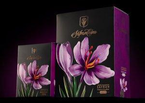 طراحی بسته بندی زعفران فله ای
